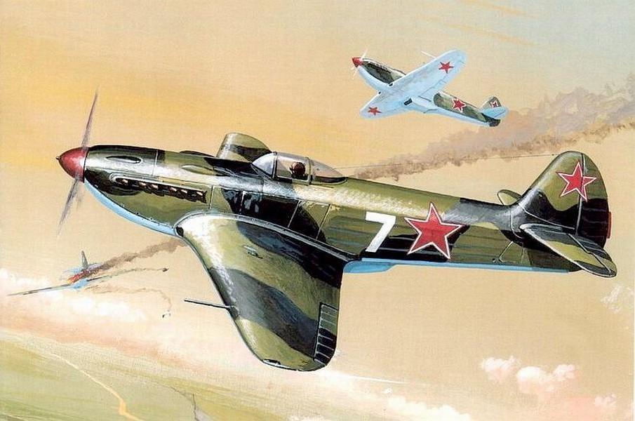 Бой ведут Як-3.