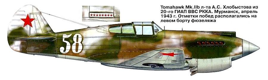 Tomahawk Mk.IIb А.С.Хлобыстова.
