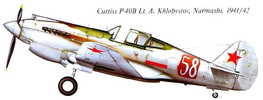 Самолёт Р-40В 'Томагаук' А.С.Хлобыстова.