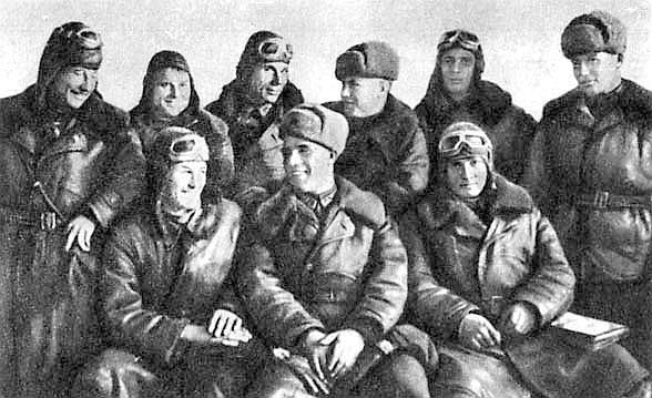 Группа лётчиков 296-го ИАП.