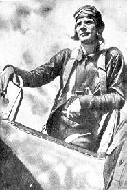 Сергей Грицевец в кабине своего самолёта. Халхин - Гол, лето 1939 г.
